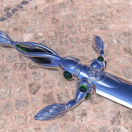 Télécharger fichier STL gratuit Réplique d'épée vorpaline d'Alice au pays des merveilles Modèle d'impression 3D gratuit • Objet pour imprimante 3D, MLBdesign