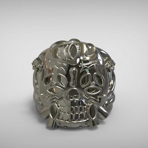 luckyring1.jpg Download STL file Lucky Ring from expendables movie 3D print model • 3D printing template, MLBdesign