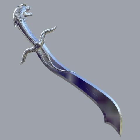 STL file Saba Sword concept Power rangers, MLBdesign