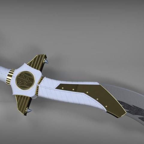 3D printer models Power Rangers Legacy Legacy Saba Sword replica 3D print model // Power Rangers saba sword, MLBdesign