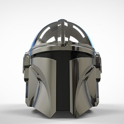 Descargar modelo 3D The Mandalorian Helmet 3d print model NEW UPDATE, MLBdesign
