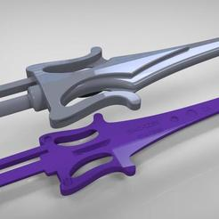 he-man-skeletor_sword_2.jpg Download STL file Sword of Power Vintage toys real life size Replica • 3D print design, MLBdesign