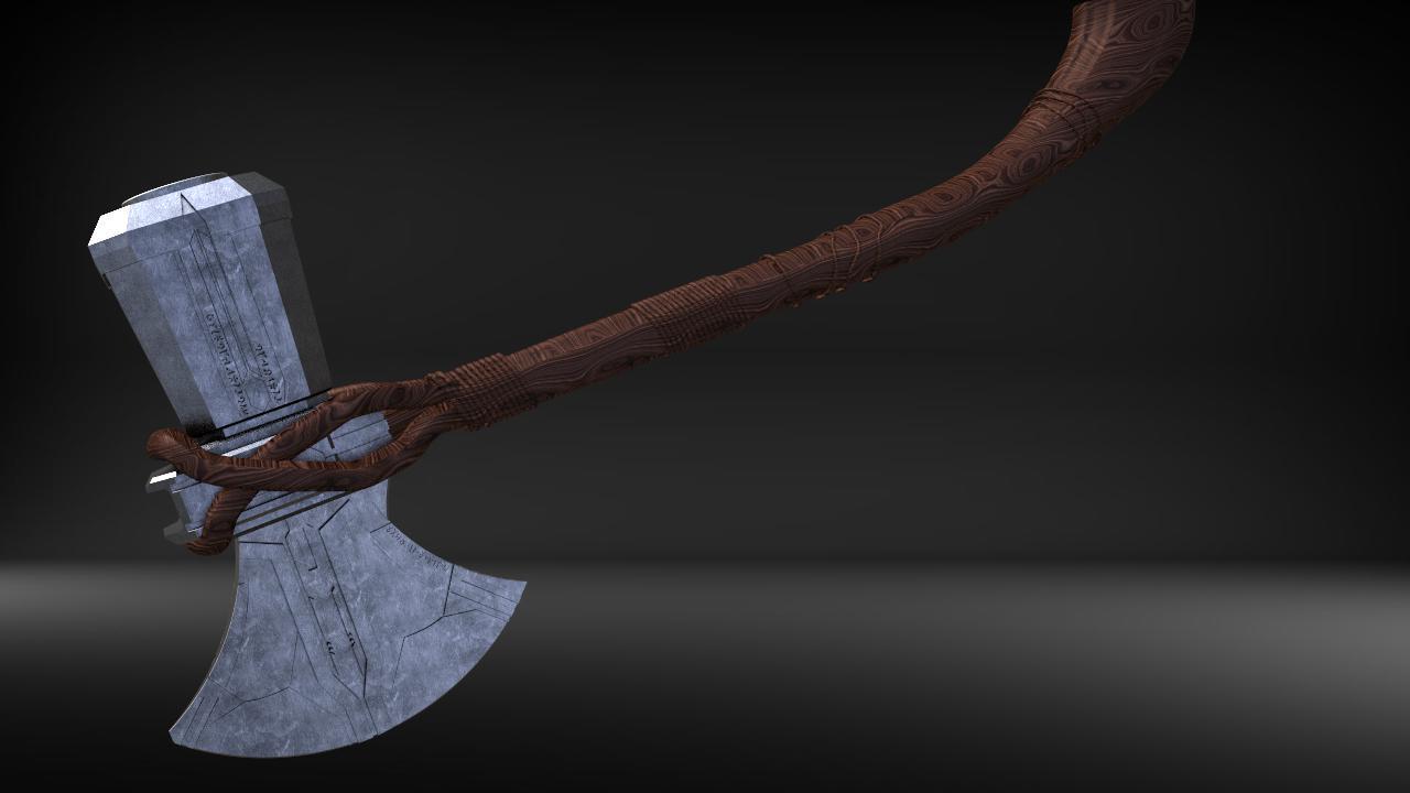 stormbreaker10.jpg Download STL file Stormbreaker New Thor's Weapon from infinity war • 3D print model, MLBdesign
