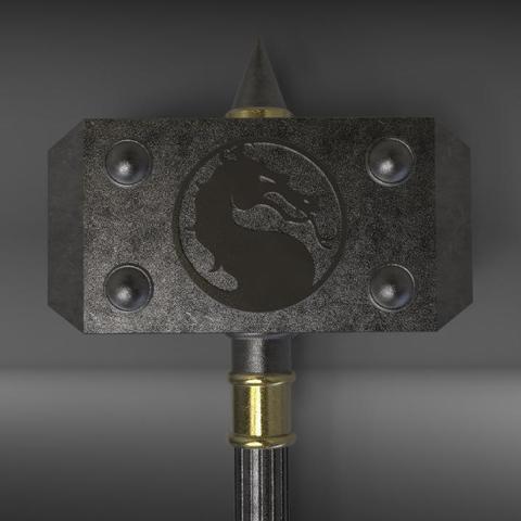 Download 3D printer templates Shao Kahn Hammer MORTAL KOMBAT 3D print model, MLBdesign
