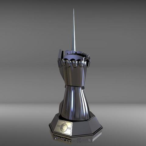 robo2.jpg Download STL file robocop hand with stand / mano de robocop con stand • 3D printer design, MLBdesign