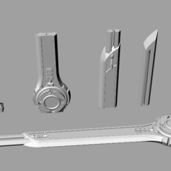STL files Power rangers ninja steel sword 3D print model, MLBdesign