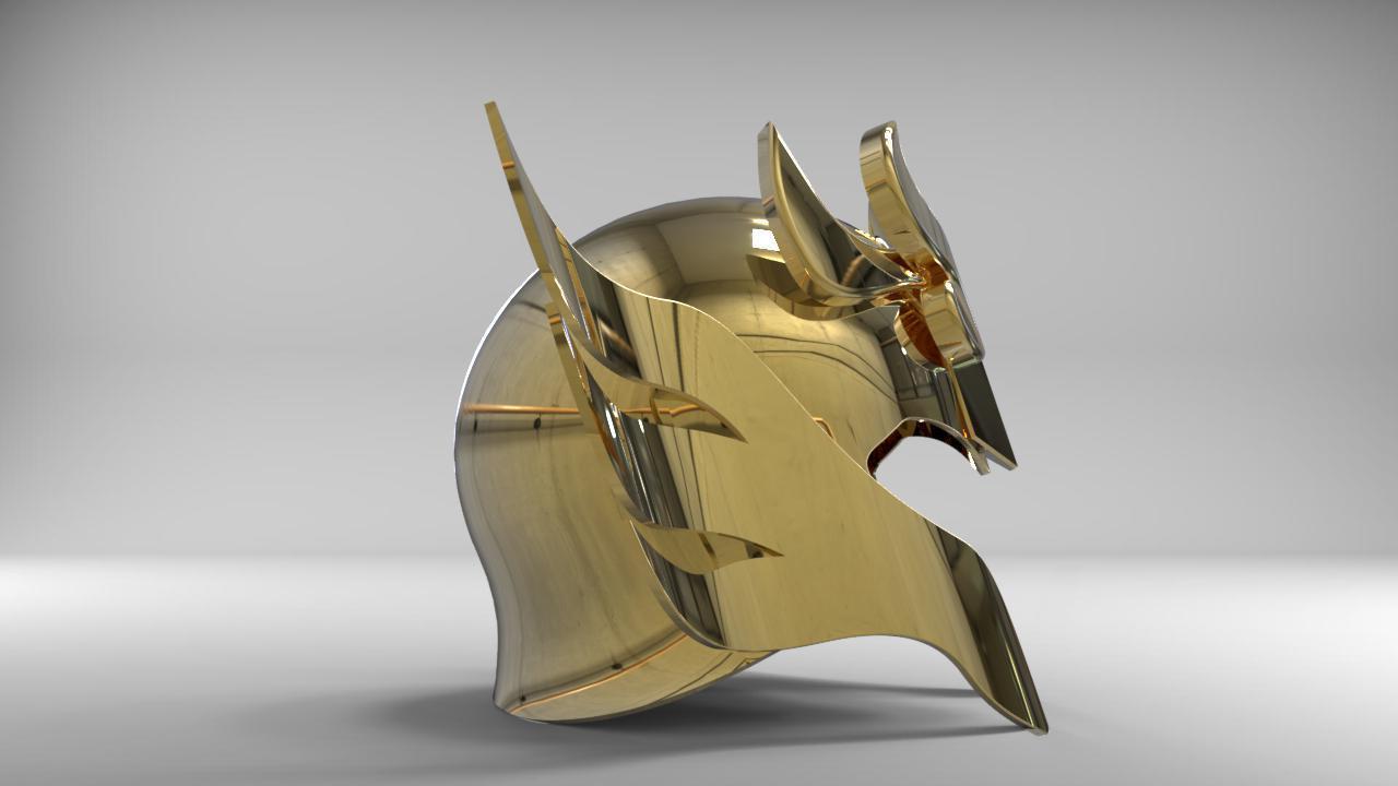 helmet 4.jpg Download STL file Libra Armor Helmet // Libra myth cloth helmet • 3D print design, MLBdesign