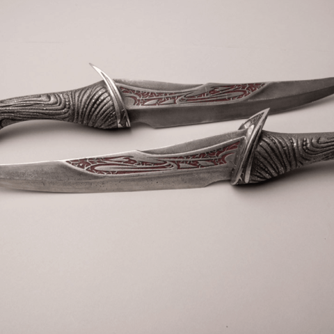 Drax_Knives.png Download STL file Drax Knives daggers from guardians of the galaxy 3D print model UPDATED • 3D printer design, MLBdesign