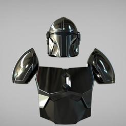 Download 3D print files Armor Steel Beskar El Mandalorian // The Mandalorian Beskar steel armor and helmet UPDATED 3D print model, MLBdesign