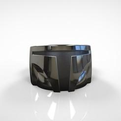 untitled.391.jpg Télécharger fichier STL Le modèle d'impression 3D de la bague d'inspiration mandalorienne • Plan imprimable en 3D, MLBdesign