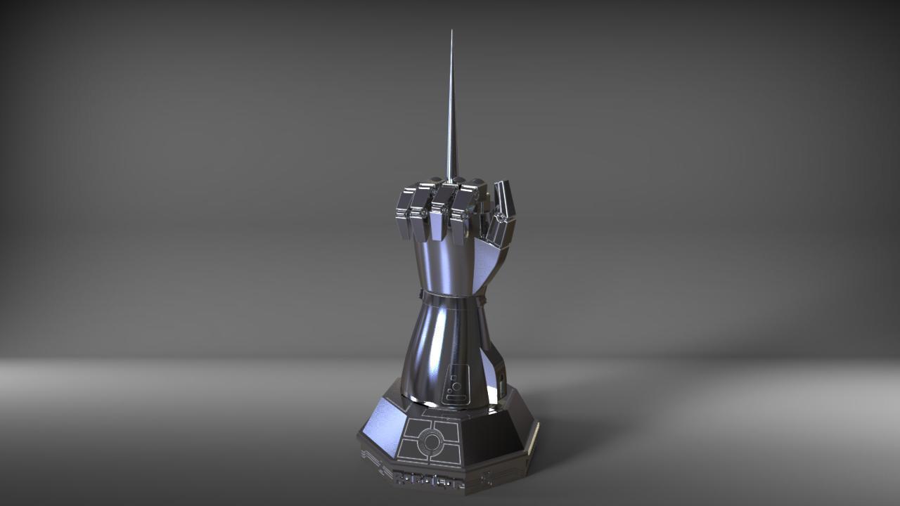 robo1.jpg Download STL file robocop hand with stand / mano de robocop con stand • 3D printer design, MLBdesign