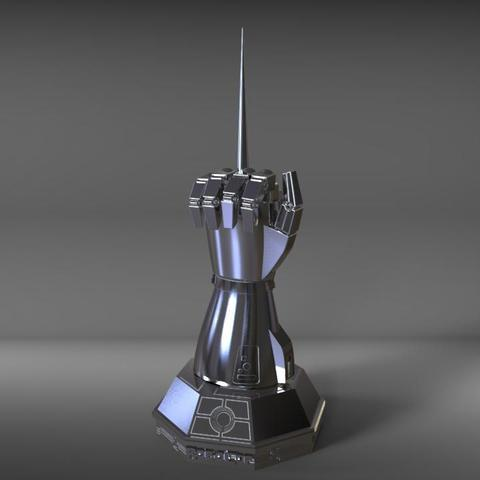 3D print files robocop hand with stand / mano de robocop con stand, MLBdesign