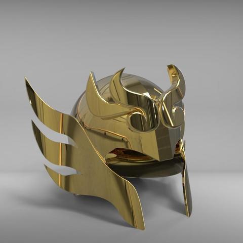 helmet2.jpg Download STL file Libra Armor Helmet // Libra myth cloth helmet • 3D print design, MLBdesign