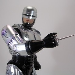 stl file robocop hand with stand, MLBdesign
