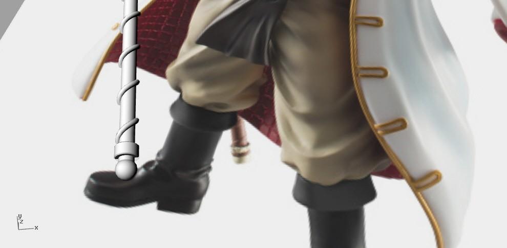 spear2.jpg Download STL file Bisento Spear of white beard One Piece 3D print model • 3D printable design, MLBdesign