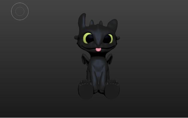Toothless Dragon 3D printing 2.jpg Télécharger fichier STL Krokmou • Plan pour impression 3D, derailed