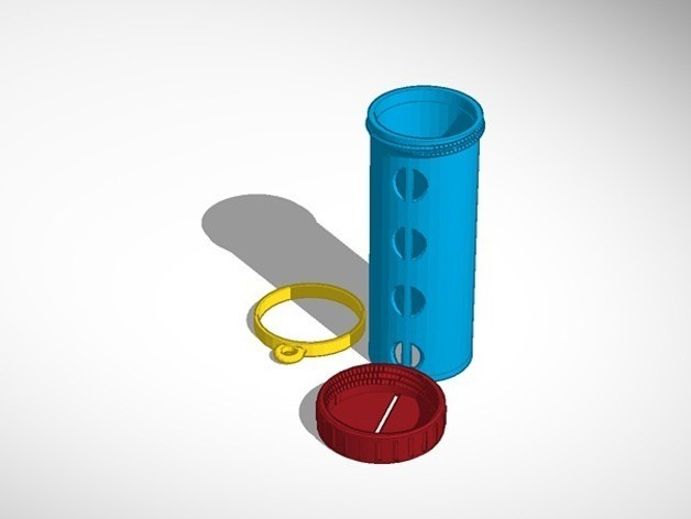 fd4f4bba183ec9f5bcdac872281446f1_preview_featured.jpg Download free STL file Quarter Holder/Dispenser with Travel Ring • 3D printable design, derailed