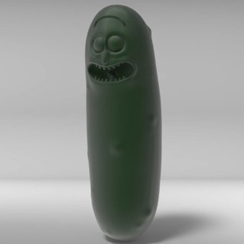 Download free STL files Pickle Rick, derailed