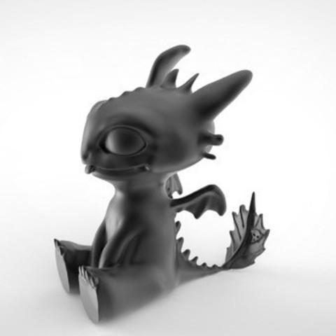 Toothless Dragon 3D printing.jpg Télécharger fichier STL Krokmou • Plan pour impression 3D, derailed