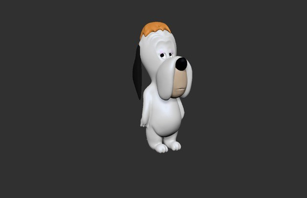 Droopy Impression 3D.jpg Download free STL file Droopy • 3D printing object, derailed
