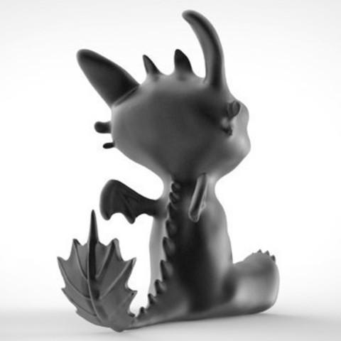 Toothless Dragon 3D printing 4.jpg Télécharger fichier STL Krokmou • Plan pour impression 3D, derailed