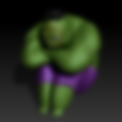 Free 3D printer model Baby Hulk, derailed