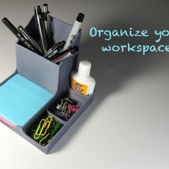 Free Desk Organizer 3D model, derailed