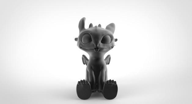 Toothless Dragon 3D printing 6.jpg Télécharger fichier STL Krokmou • Plan pour impression 3D, derailed