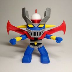 Impresiones 3D Mazinger Z funko pop. Multi color print with one extruder, marloquemegusta