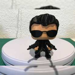 Descargar archivo 3D gratis NEO FROM MATRIX FUNKO POP. MULTI COLOR PRINT WITH ONE EXTRUDER, marloquemegusta