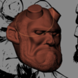 hellboy 1.PNG Download STL file Hellboy Head • 3D printer model, marloquemegusta