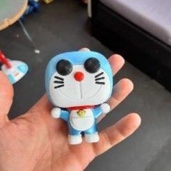 Télécharger fichier 3D Doraemon funko pop. Impression multicolore avec une extrudeuse, marloquemegusta