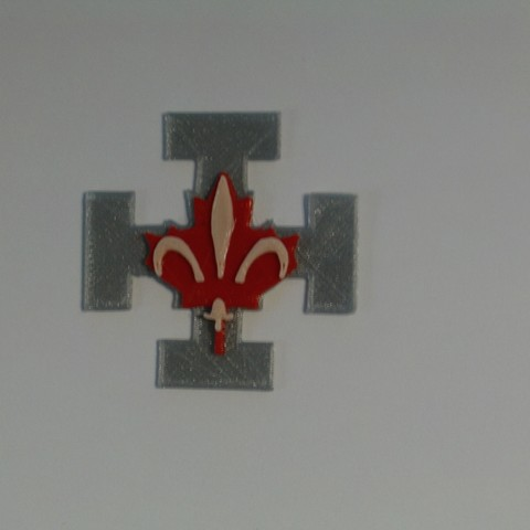 Download free 3D printing templates QUEBEC Scout Badge, jrr