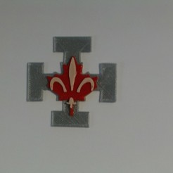 IMAG0009.JPG Download free STL file QUEBEC Scout Badge • Template to 3D print, jrr