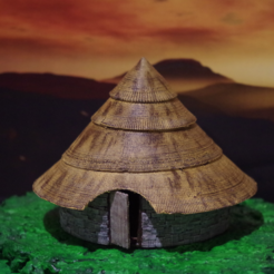 Download free STL The Celtic Round House, Earsling