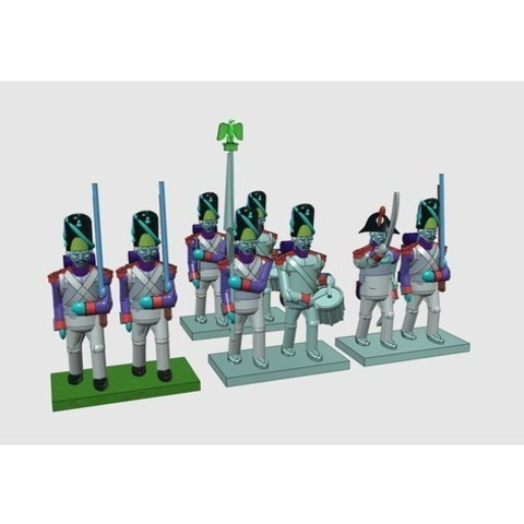 6c14bf0dc76c0babe5611001a16241fb_preview_featured.jpg Download free STL file Napoleonics - Part 15 - French Old Guard Grenadiers • Template to 3D print, Earsling