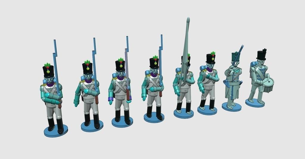 b428ec4989043d2fac22d2b372ba06c9_display_large.jpg Download free STL file Napoleonics - Part 17 - Austrian Musketeers Grenadiers and Landwehr Mk III • 3D printing model, Earsling