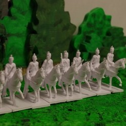 Free 3D printer designs American War of Independence - Part 3 - British Lt Dragoons, Earsling