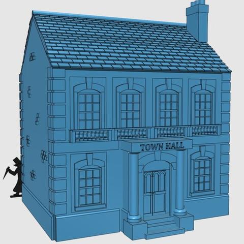 Capture d'écran 2017-08-07 à 17.57.45.png Download free STL file Ripper's London - The Town Hall • 3D printer model, Earsling