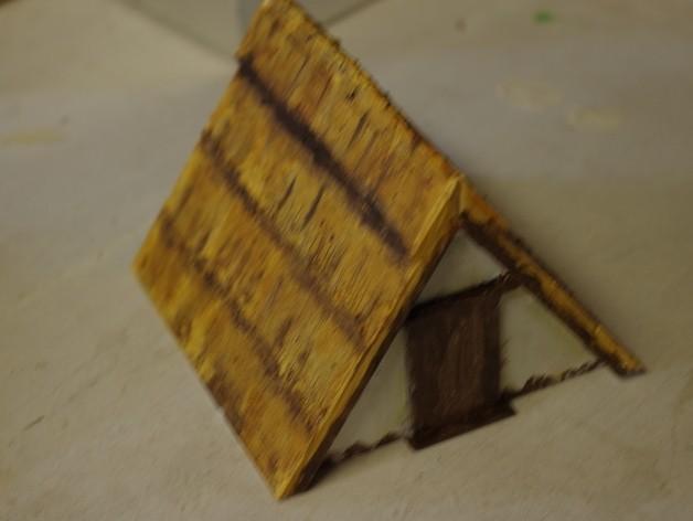 ae85d0ab9a1b101c9a9b18cc01a27c33_preview_featured.JPG Download free STL file Saxon Burh A frame hut • 3D print object, Earsling