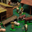 Download free STL files Dark Age Townsfolk, Villagefolk and Domestic Beasts, Earsling
