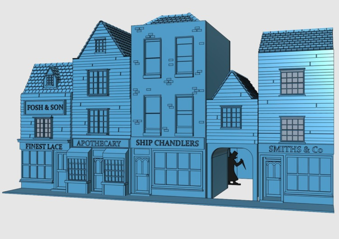 Capture d'écran 2018-01-15 à 11.01.20.png Download free STL file Ripper's London - The Shops Part 2 - The Overarch • 3D printing model, Earsling