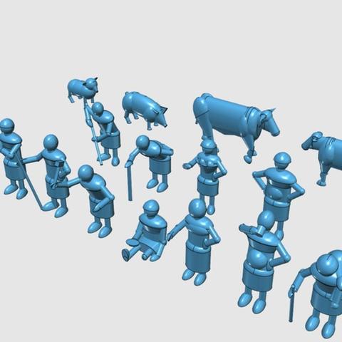 Capture d'écran 2017-06-30 à 12.18.17.png Télécharger fichier STL gratuit Dark Age Townsfolk, Villagefolk et Bêtes domestiques • Plan pour imprimante 3D, Earsling