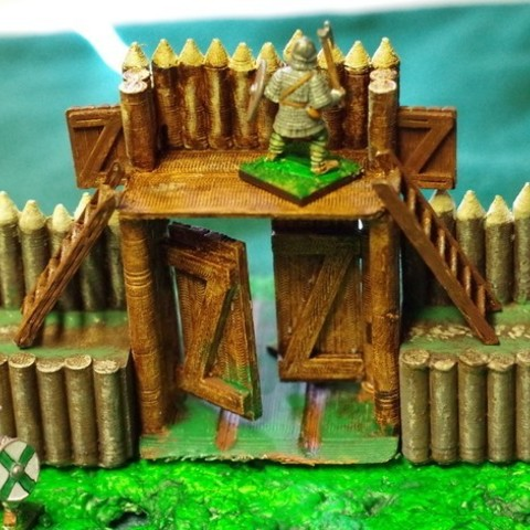 Free 3d printer designs Saxon Burh Fortified Gate, Earsling