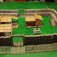 Free 3d printer model Saxon Burh - walls, Earsling