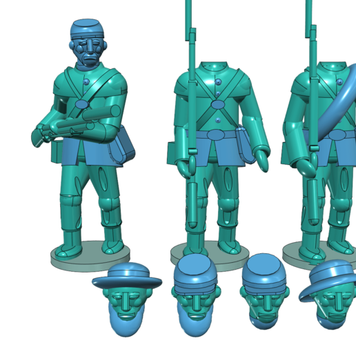 Download free STL file American Civil War - Part 1 - Infantry • Template to 3D print, Earsling
