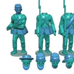 acw1.png Download free STL file American Civil War - Part 1 - Infantry • Template to 3D print, Earsling