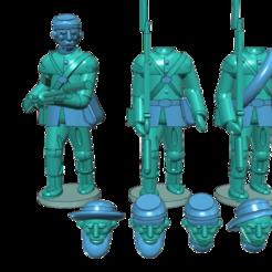 Download free 3D printing models American Civil War - Part 1 - Infantry, Earsling