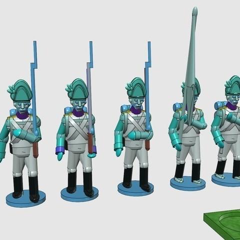 ef76ca6ac3baf9037b884a2085a9f3c3_display_large.jpg Download free STL file Napoleonics - Part 17 - Austrian Musketeers Grenadiers and Landwehr Mk III • 3D printing model, Earsling