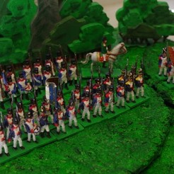Free 3D printer designs Napoleonics - Part 16 - French Infantry Mk III, Earsling